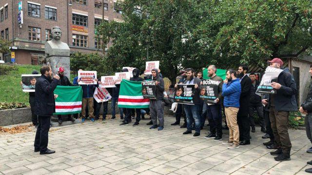 Акция против экстрадиции чеченцев