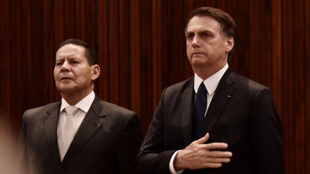 Mourão com Bolsonaro