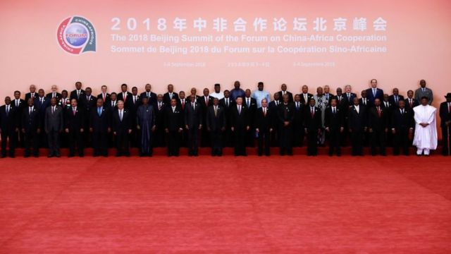 African Leader dey poseon Monday wit China Presido Xi Jinping for Beijing