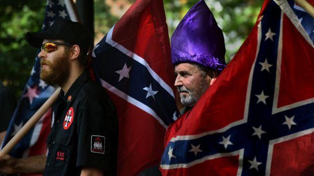 Concentración de defensores de la Confederación americana