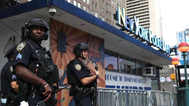 Police at Times Square