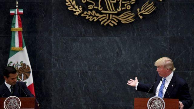 Президент Мексики Энрике Пенья Ньето и Дональд Трамп