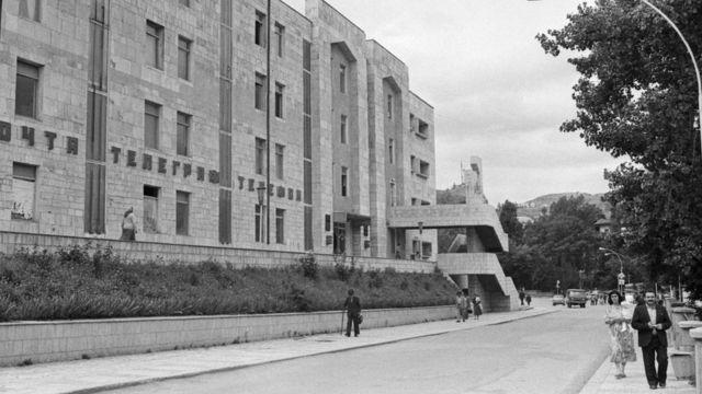 Одна из центральных улиц Шуши, 1988 год