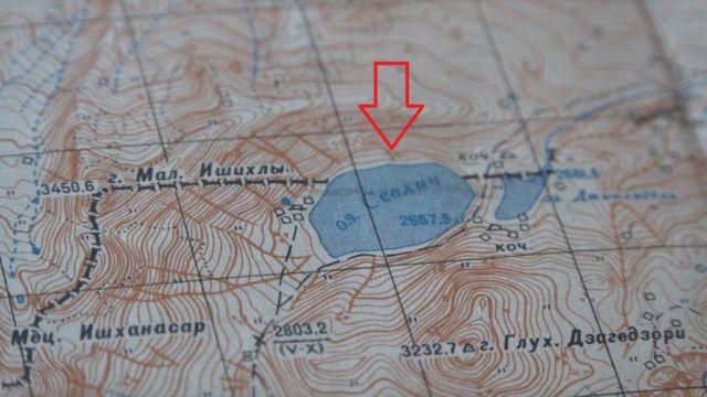 SSRİ Baş Kartoqrafiya və Geodeziya İdarəsi tərəfindən 1948-52-ci illərdə hazırlanmış və 1970-ci ildə yenilənmiş xəritədə Qaragöl (Sevliç) gölünün bir hissəsi Azərbaycan, bir hissəsinin Ermənistan tərəfinə düşdüyü görünür.