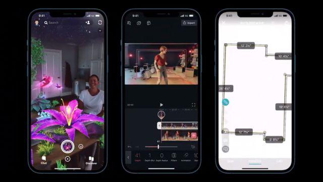 苹果表示,Lidar扫描器可能帮助提升AR、视频和房间扫描应用的体验。