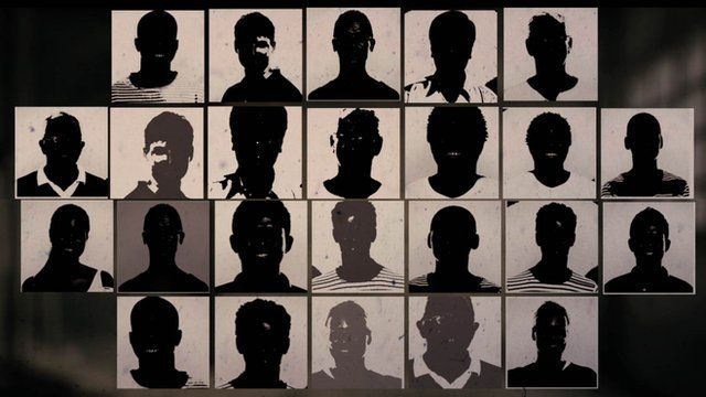 stylised silhouettes of people's faces