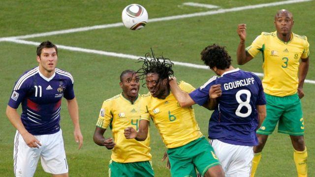 Sudafricanos contra franceses