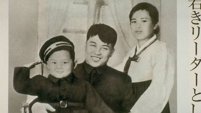 (캡션) 김일성 가족사진