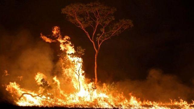 Incêndio na Amazônia, em foto de 2019