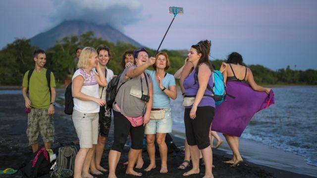 Turistas en Nicaragua