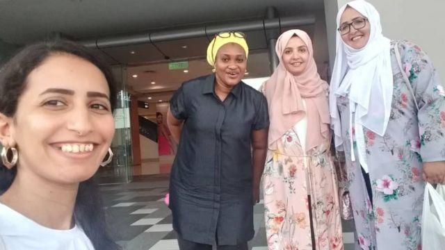 Halima Babamale ati awọn akẹgbẹ rẹ nile ẹkọ to wa ni Malaysia
