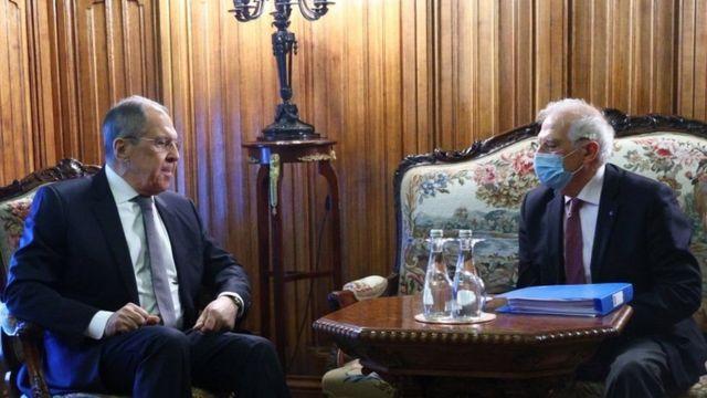Sergey Lavrov ve Josep Borrell