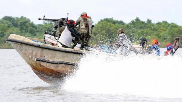 Militantes en el Delta del Niger.