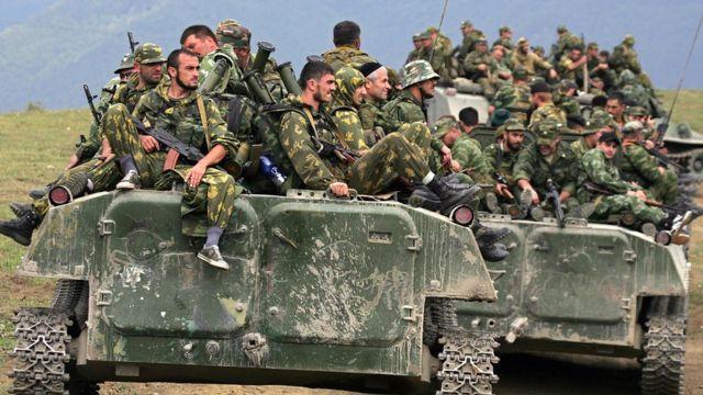 Чеченский батальон в составе российских войск