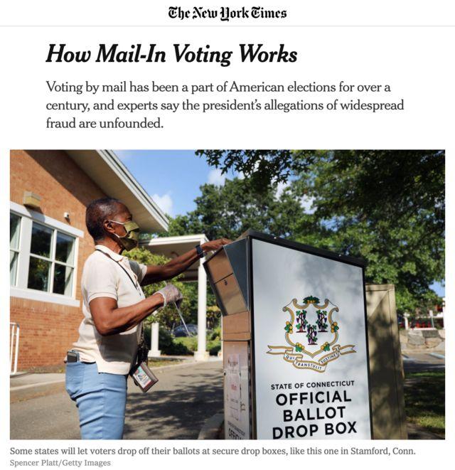 صندوق رسمی انداختن رای غیرحضوری