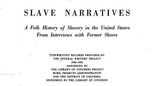 Manuscrito datilografado pelo Projeto Federal dos Escritores