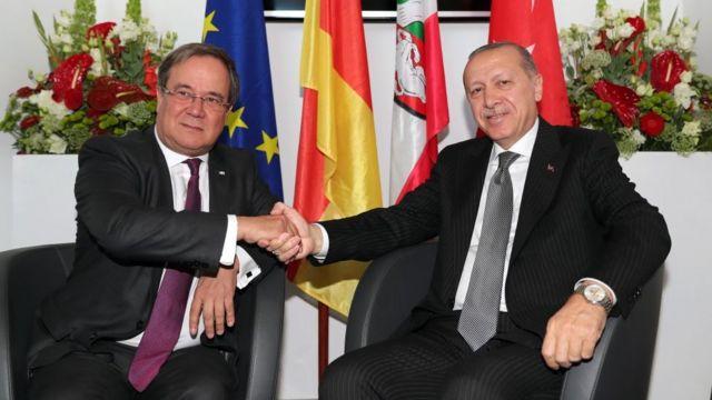 Laschet ve Cumhurbaşkaın Erdoğan, 29 Ekim 2018'de Köln'de görüşmüştü.