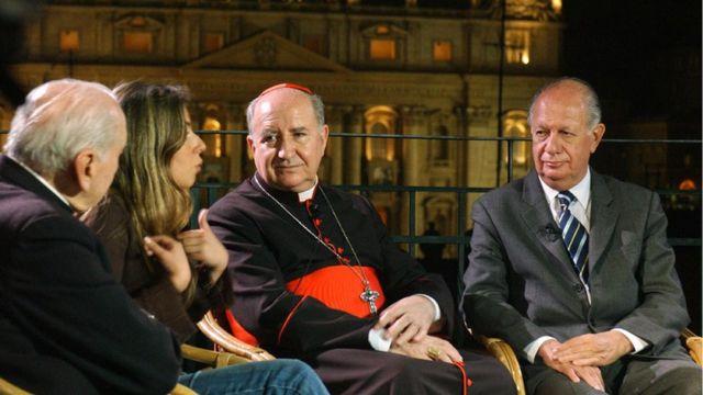Cardenal Errázuriz con el presidente Lagos en 2005