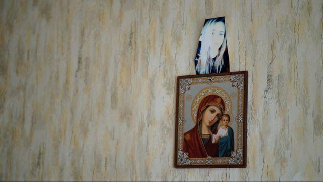 Стена в комнате Дианы Карпович