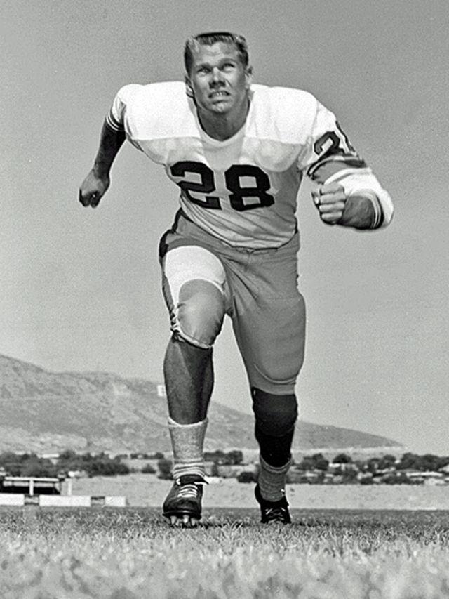 John Corcoran como atleta na juventude