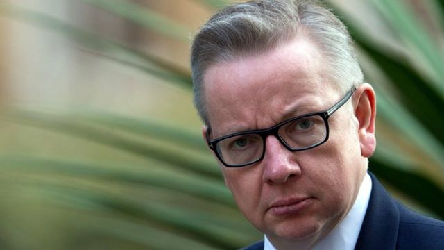 UK Environment Minister Michael Gove