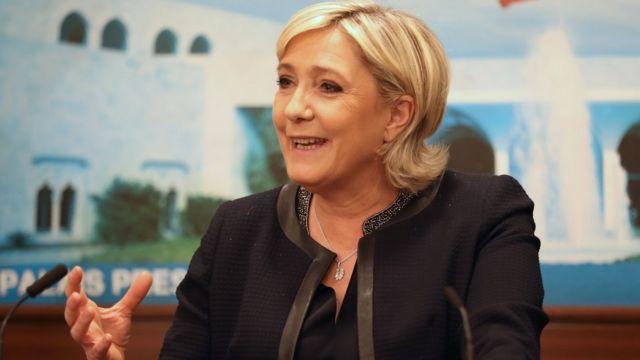 مارين لوبان ترفض ارتداء الحجاب قبل لقاء مفتي لبنان
