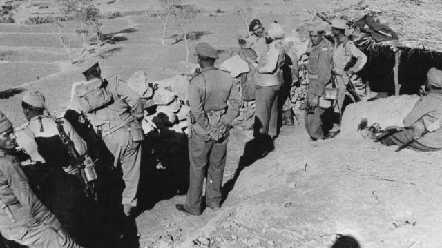 Imagen de noviembre de 1962, de tropas indias.