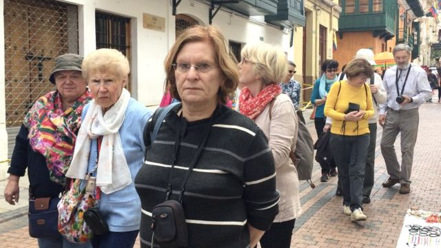 Turistas en Bogotá