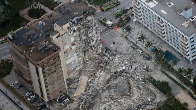 Derrumbe de un edificio en Miami: las imágenes de la tragedia tras el  colapso de parte de un condominio frente al mar - BBC News Mundo