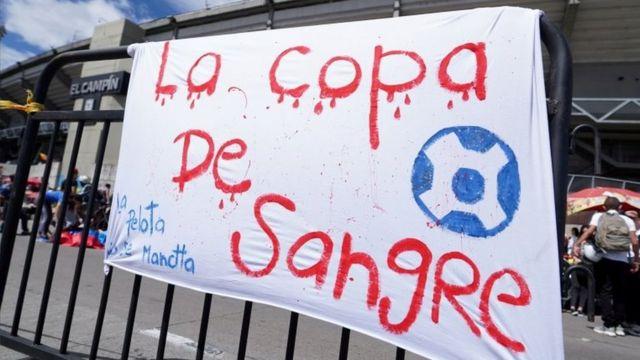 Protesto contra Copa América na Argentina