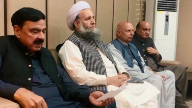 ٹی ایل پی، حکومت، مذاکرات، تحریک لبیک پاکستان، شیخ رشید، نورالحق قادری
