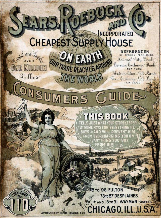 La portada de la guía de consumidores de Sears Roebuck and Co de 1900