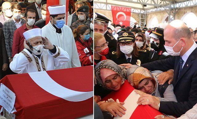 Funerals for Cihat Şahin and Fatih Doğan