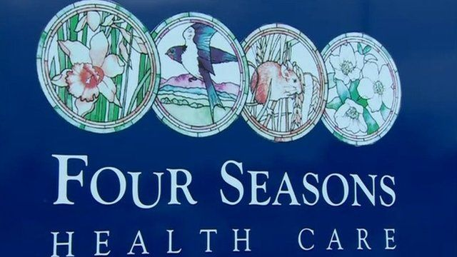 Four Seasons Health Care sign