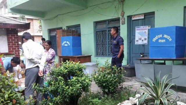जनकपुरधामको एक मतदान केन्द्र