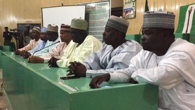 Chairman of di committee Baffa Dan Agundi and di committee members on Friday