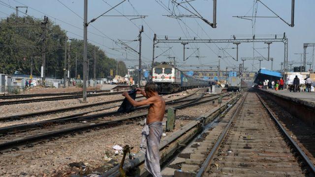 Hình ảnh một ga tàu ở Ấn Độ