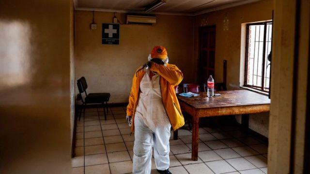 Sala médica en Sudáfrica