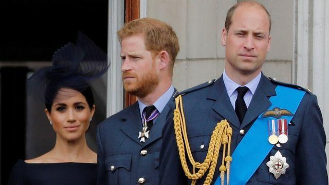 "Duchess of Sussex, Britain""s Prince Harry, Duke of Sussex, Britain""s Prince William, Duke of Cambridge and Britain""s Catherine, Duchess of Cambridge,"