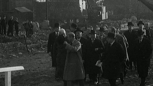 Edward VIII visits Dowlais