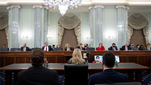 Frances Haugen ofrece su testimonio ante el Senado de EE.UU.