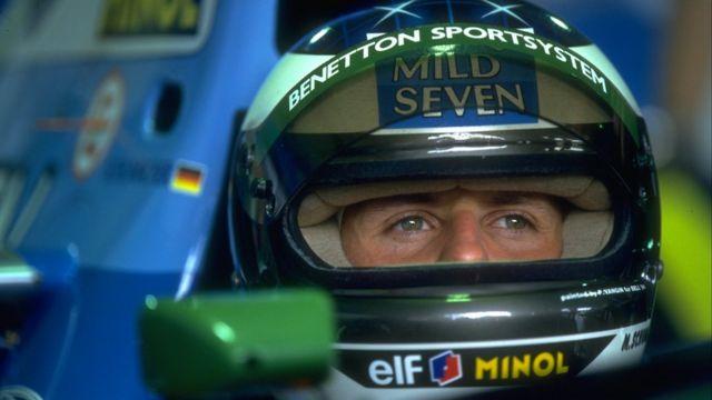 Michael Schumacher corriendo por Benetton