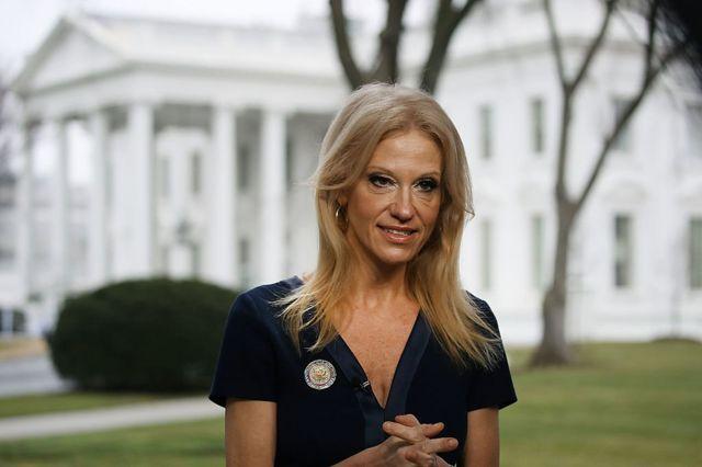 Kellyanne Conway en la Casa Blanca