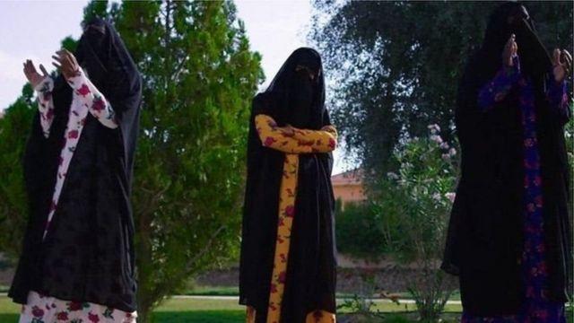 બુરખામાં સાઉદીની મહિલાઓ