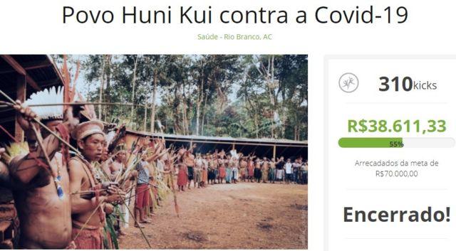 Campanha de arrecadação dos Huni Kuin