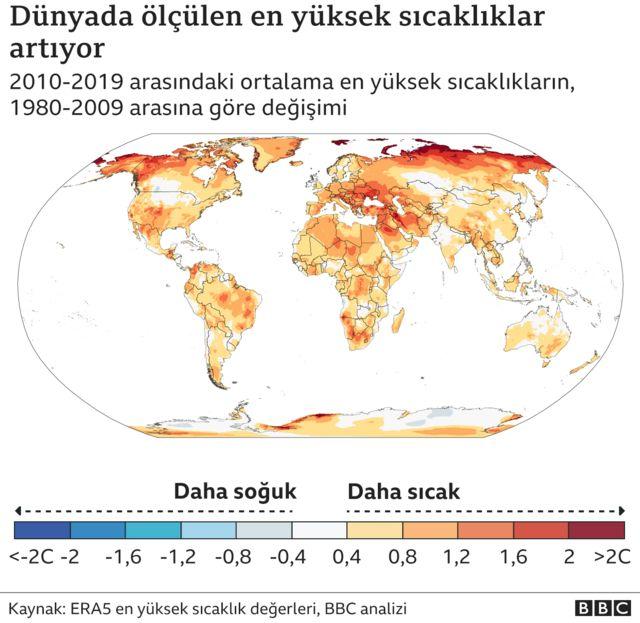Dünya sıcaklık grafiği