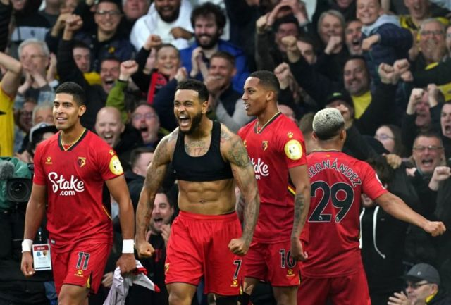Everton had never lost a home league fixture to Watford and the away side duly celebrated wildly during their late run of goals