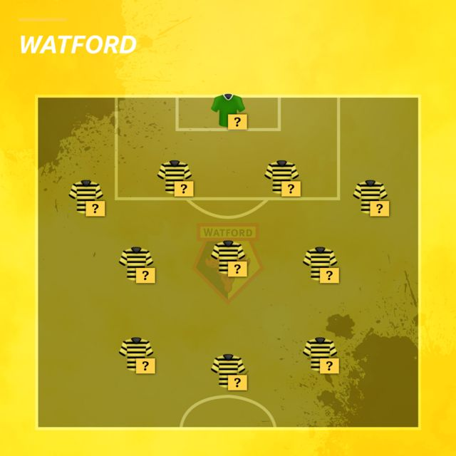 Watford team selector graphic
