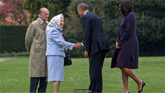 Elizabeth 2ª recebe o presidente Barack Obama