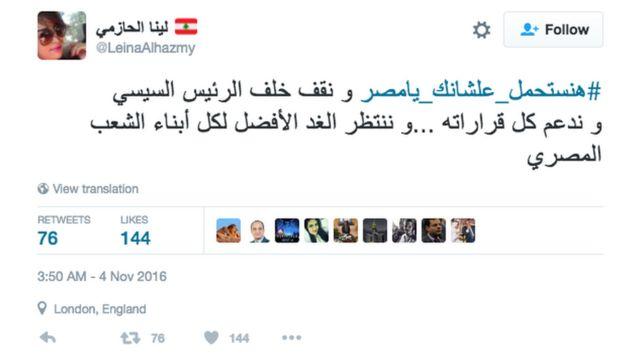 أطلق مغردون على موقع تويتر هاشتاغ #هنستحمل_علشانك_يامصر للتعليق على الموضوع ليظهر في قائمة أكثر الهاشتاغات تداولاً في مصر صباح اليوم.
